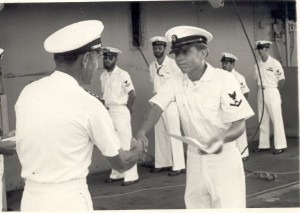 First Chevron on the USS New Orleans June 1977 Subic Bay Phillipines